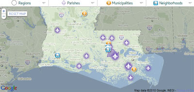 Maps Mania Louisiana Planning On Google Maps