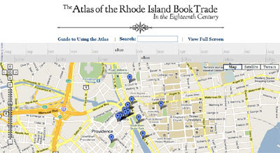 Maps Mania: 18th Century Book Trade on Google Maps