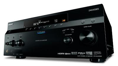 Vista en angulo diagonal del Sony STR-DA5400ES en color negro