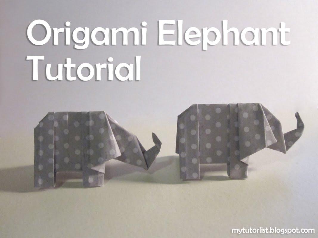 Origami elephant tutorial behind mytutorlist origami elephant tutorial jeuxipadfo Choice Image
