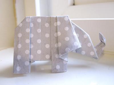paper crafts: origami elephant tutorial