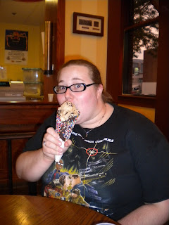 National VP Collegiates Alicia enjoys ice cream