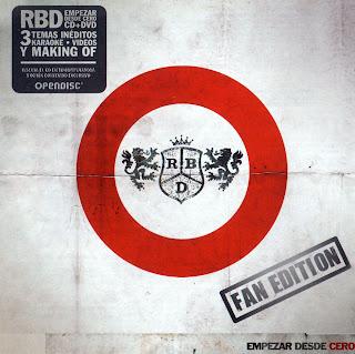 Empezar Desde Cero Fan Editon RBD caratulas portada tapa ipod