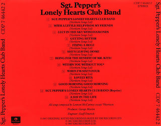 caratulas de Sgt. Pepper's Lonely Hearts Club Band back sleeve, Beatles cd covers, portada, arte de disco, tapa, pochette, hoesjes, copertine, videoclips, letras de canciones, fotos, biografia, discografia, comentarios, enlaces, melodías para movil