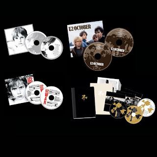 U2 remasteriza Boy, October y War en ediciones deluxe, caratulas, tapas cd