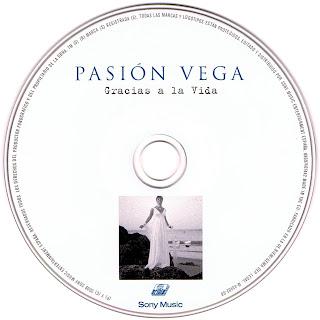 imagen del cd de Pasión Vega, Gracias a la vida, caratula en alta resolucion de caratuleo