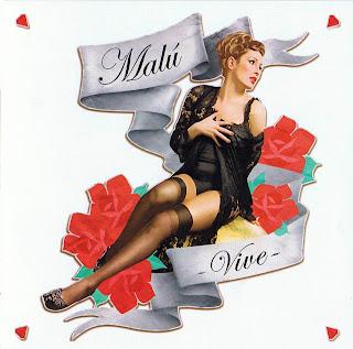 Vive caratulas de Malu, portada delantera nuevo disco, tapa, cd