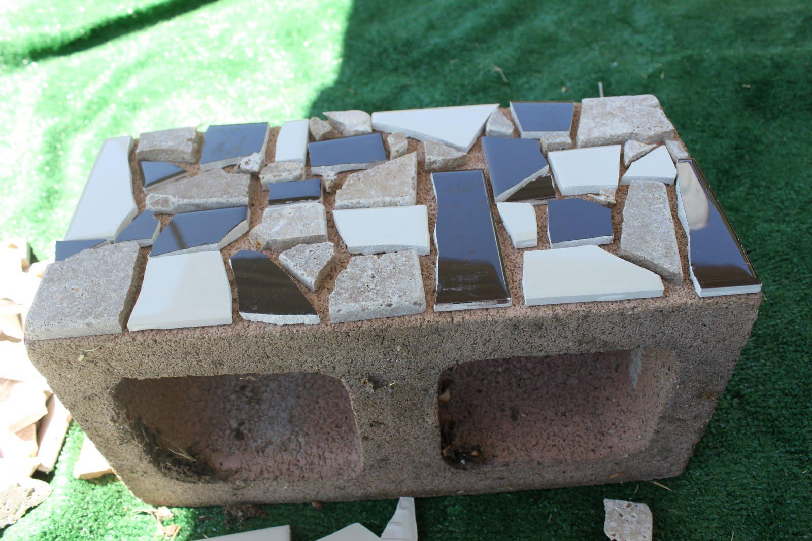 Mosaic Cinder Block Planter- Part One - Delicate Construction