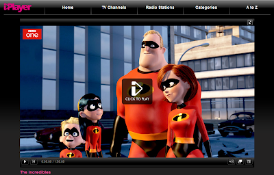The Incredibles on BBC iPlayer