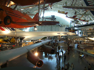 Hanger view with Concorde