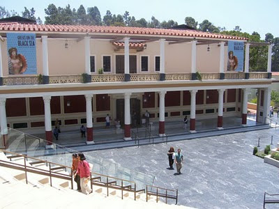 Getty Villa entrance