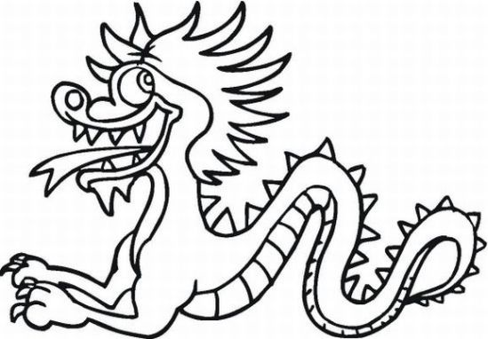 chinese new year dragon coloring page acgs