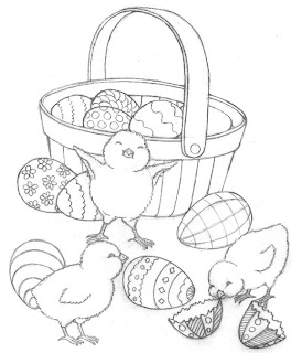 Easter  Coloring Pages on Easter Egg Basket Coloring Pages