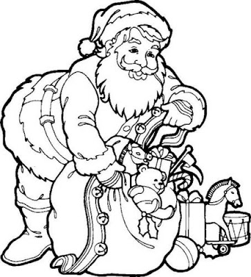 Xmas Themed Coloring Pages