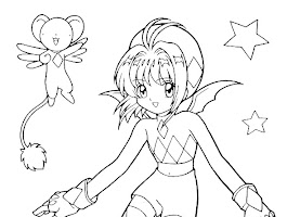 Coloring Pages Cute Anime Girl Drawings