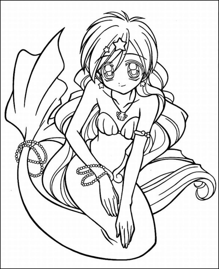 Anime Valentine Coloring Pages