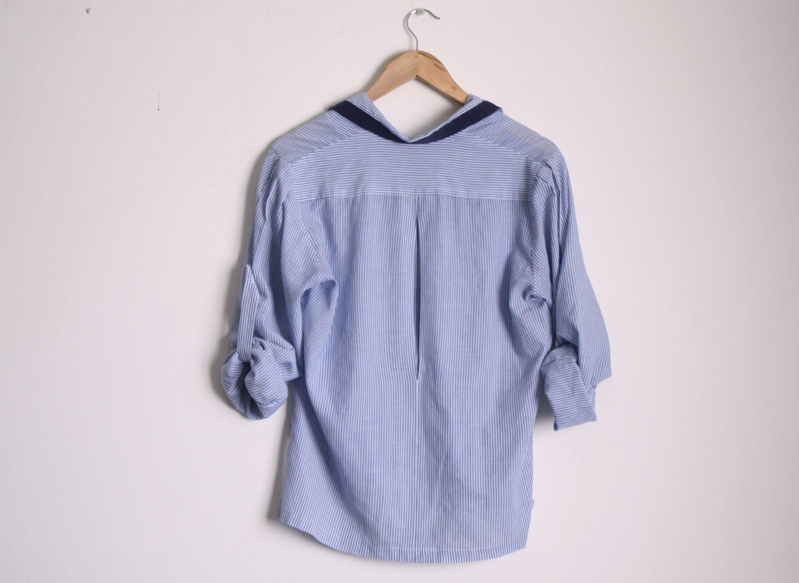 Wardrobe Purge Sold Thrifted Light Blue Pinstripe Shirt