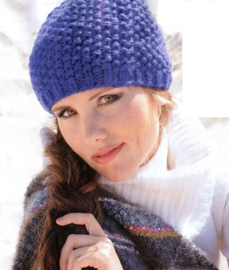 Шапочка женская вязание спицами
