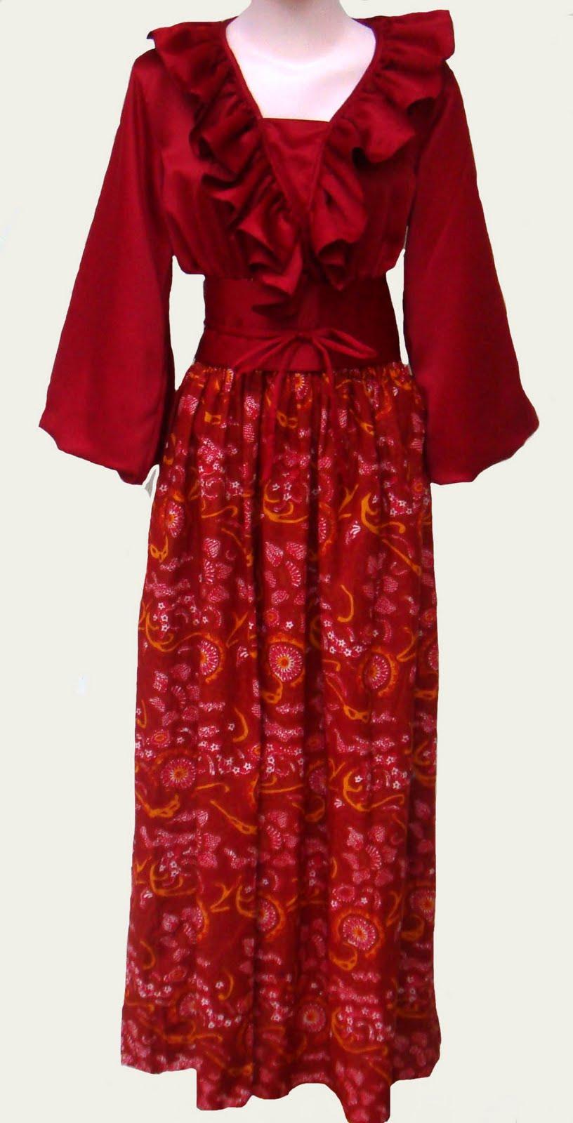 Busana Muslimah Ku Gamis Batik Modern