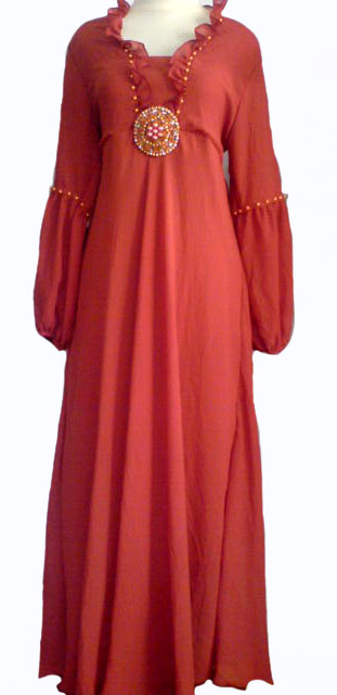 Century Trend Clothes Gamis Sifon Payet Batu Bulat