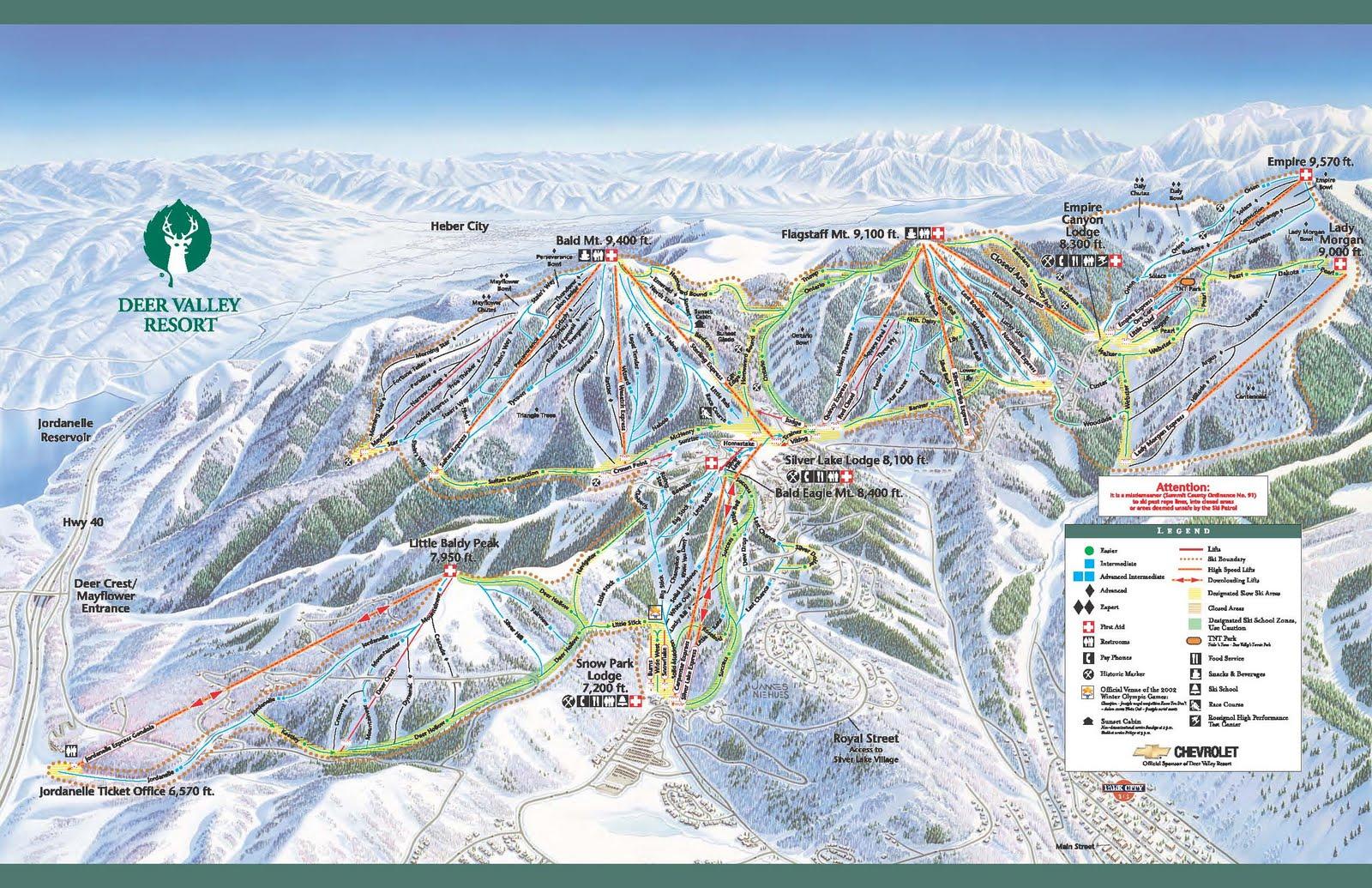 Ski Resort Reviews: Trail Maps on
