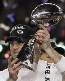 Rodgers with super bowl