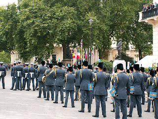 sir keith park statue raf band and guard of honour