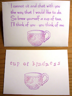 Friendship tea bag envelopes