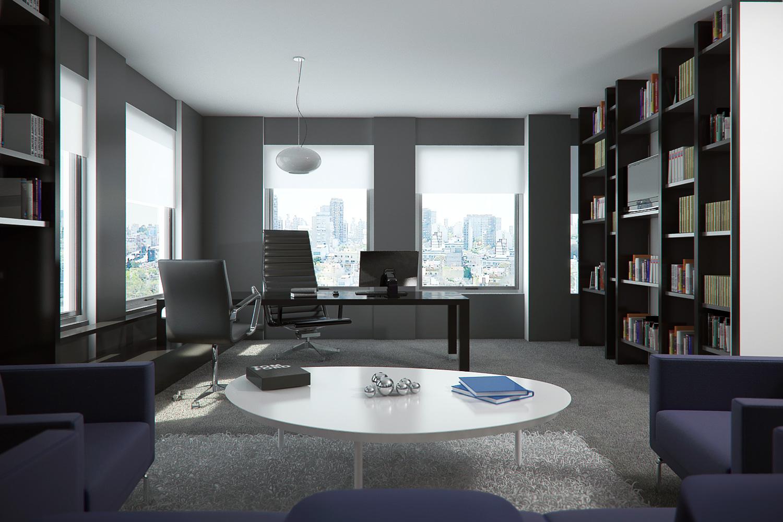Claudio gabriel escobar 3d 2d arquitectura y render for Interior oficina