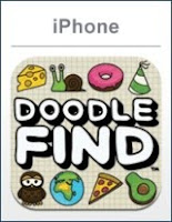 Doodle Find, iphone, game, screen, box, art
