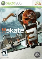 Skate 3, xbox, game, box, art, cover, screen