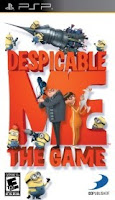 Despicable Me, Game, sony, psp, box, art