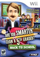 Are You Smarter Than A 5th Grader, Back to School, Nintendo, Wii, game, box, art