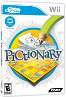 Pictionary, Trivia, Videogame, Nintendo, Wii, box, art