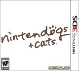 3DS, Nintendogs, Cats, game, box, art, Videogame