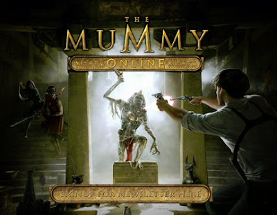 The Mummy Online, Web, game, screen