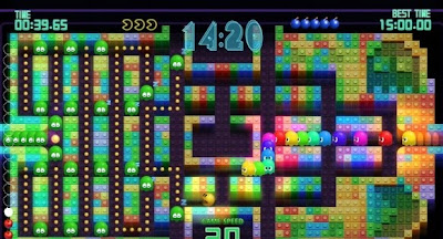 Pac-Man Championship Edition DX, Xbox, game, screen