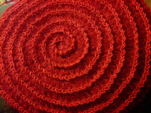 crochet hats berets spirals