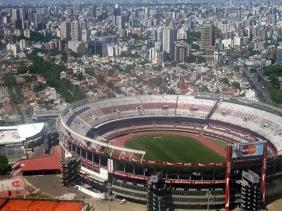 river plate stadium argentina. While the River Plate stadium