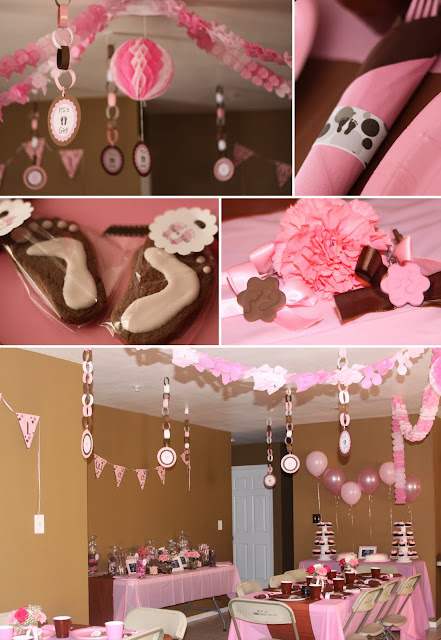 Sisterly Love Bake Shop: Pink/Brown Baby Shower