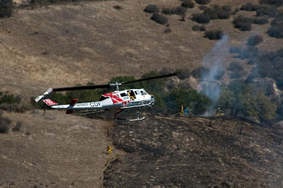 Fire Photo:  Cal Fire Copter 406 -Wildland fire