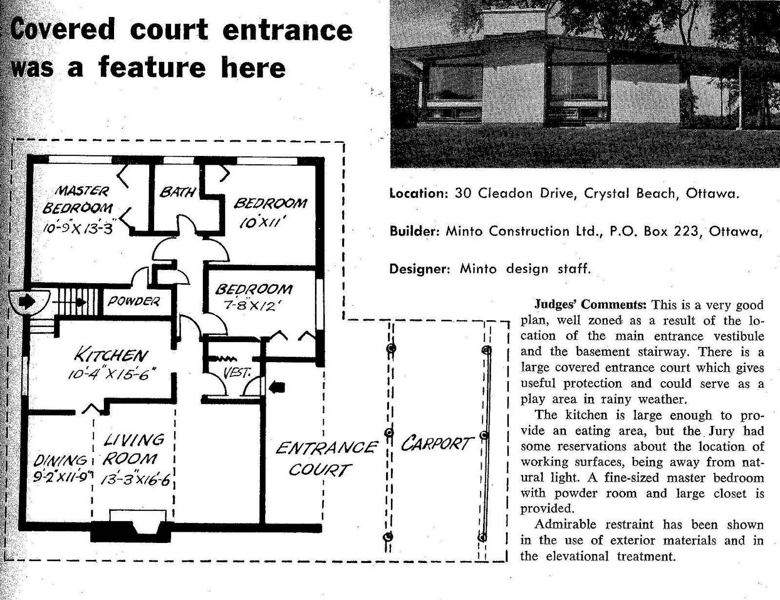 Mid century modern and 1970s era ottawa anatomy of a plan for Mid century floor plans