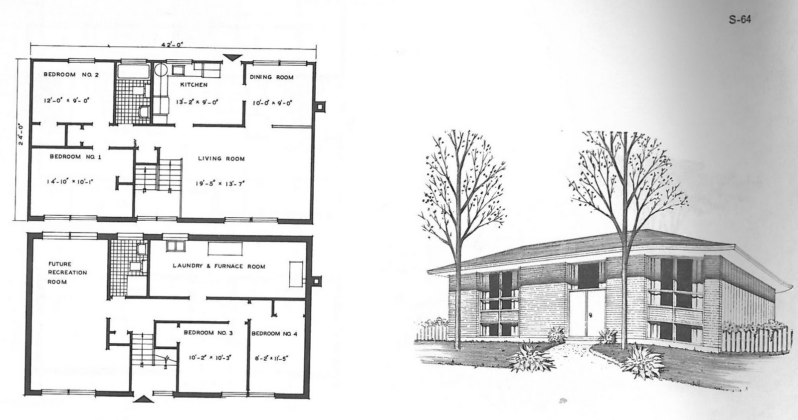 Mid century modern and 1970s era ottawa campeau best sellers 1961 the s 64 plan is identical but does not have a garage instead space for a recreation room is located on the lower level something that is missing from malvernweather Images