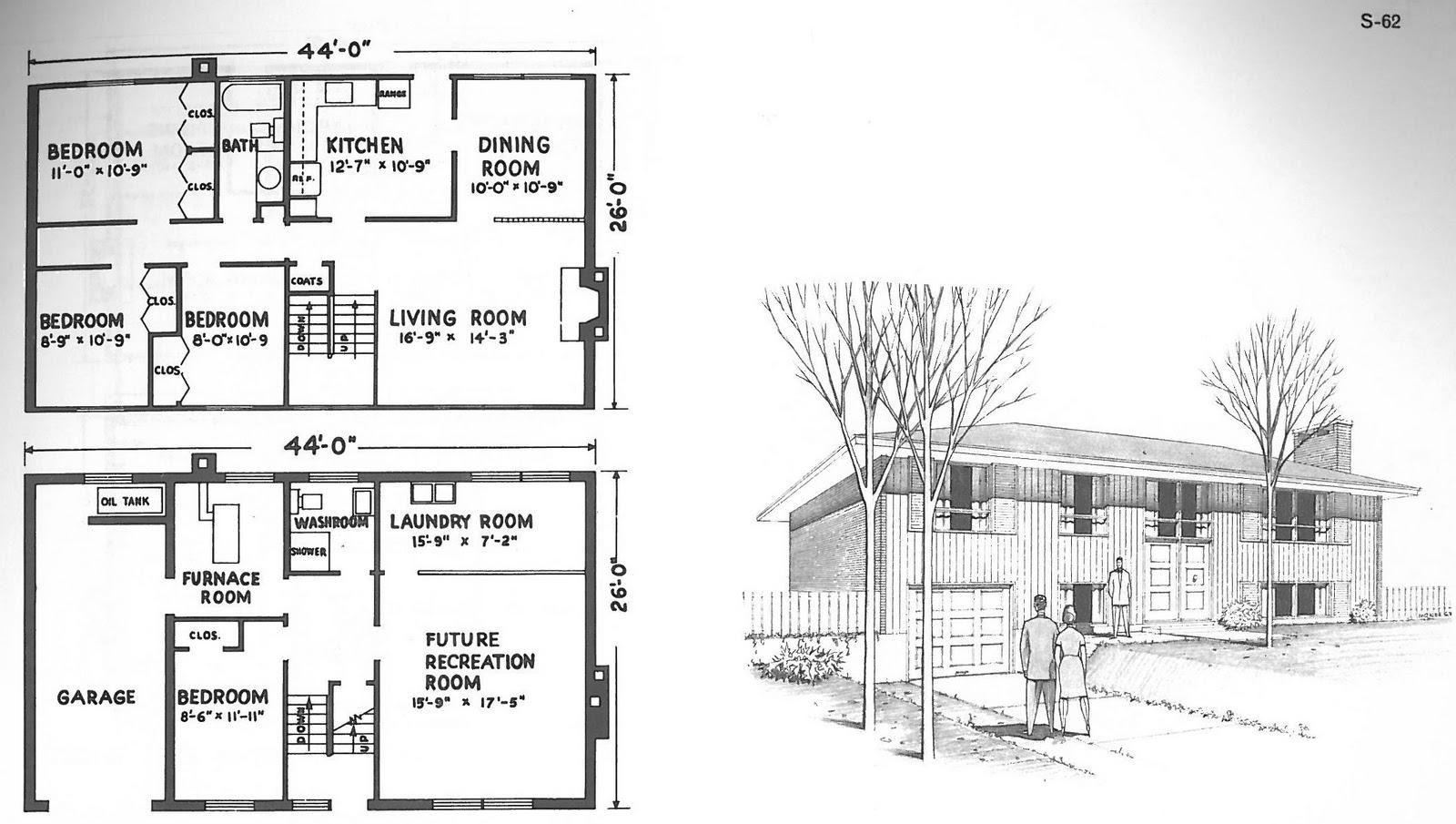 Mid century modern and 1970s era ottawa campeau best for Mid century modern floor plans