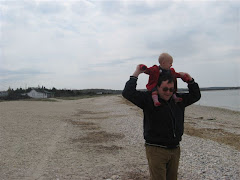 Jamesy On His Dad's Shoulders