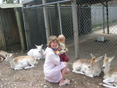 Mom And Son At The Animal Farm