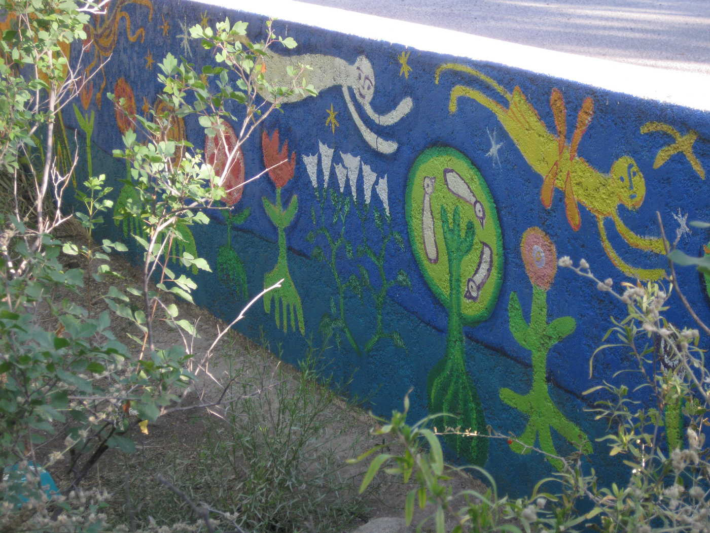 ...or Mural Garden? These Photos Are From University, Just West Of 11th,  The Organic Community Garden And Mini Nature Park, In The Art Filled  Dunbar/Spring ...