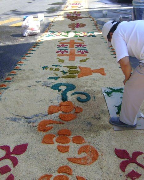 Xoxtla en la cr nica semana santa 2010 for De que estan hechas las alfombras