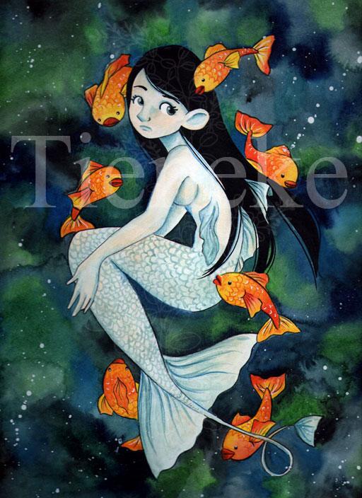 Die kleine Meerjungfrau zum Ausmalen Fabian und Arielle - Ausmalbilder Arielle Zum Drucken