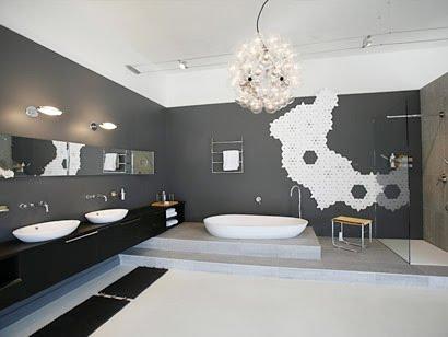 különleges fürdőszoba, csempe, lakberendezési kép, linkajánló  Inspirációk Csorba Anitától